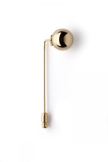 Orb Label Pin Gold