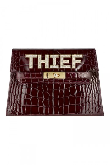 Thief Clutch Bag in Burgundy