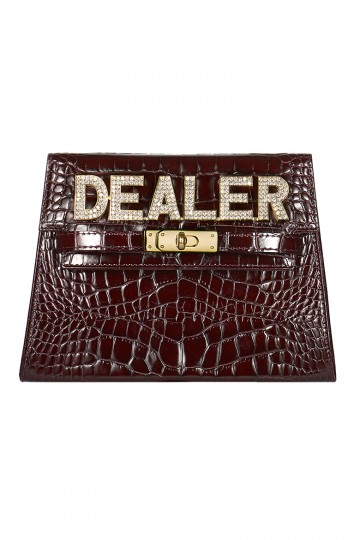 Dealer Clutch Bag in Burgundy