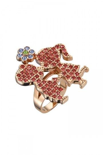 Darling Kiss Me Pave Ring Red