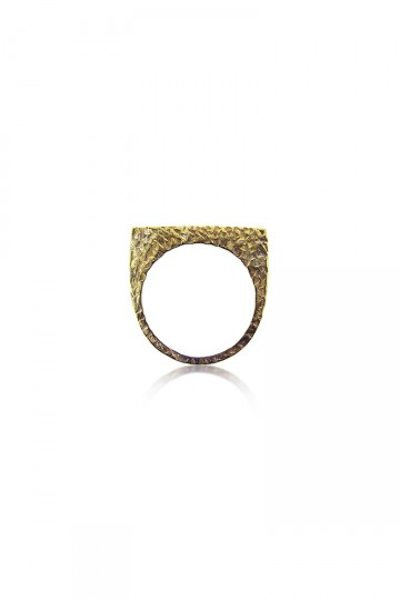 Single Gold Plate Ring