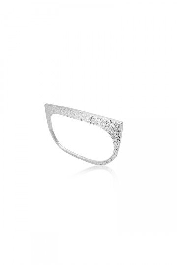 Double Plate Silver Ring