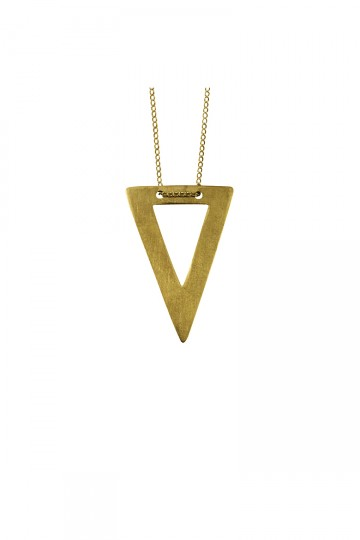 Cut Out Triangle Necklace Gold