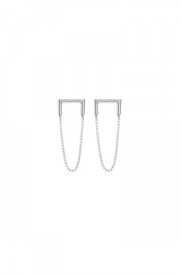 Industria Earrings Silver