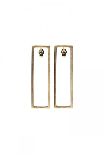 Rectangle Earrings Gold