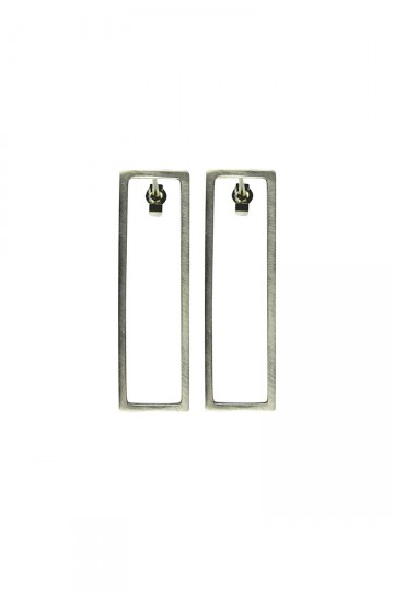 RECTANGLE EARRINGS SILVER