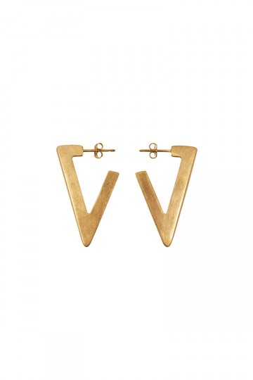 LARGE TRIANGLE EARRINGS GOLD