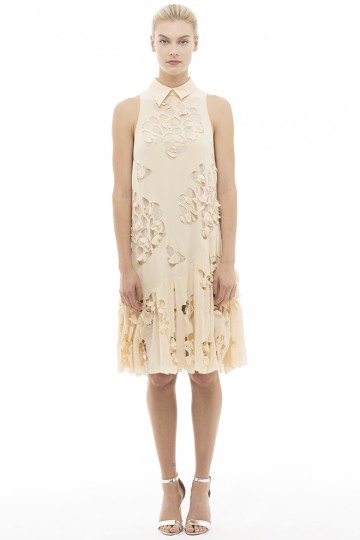 Laser Cut Silk Dress