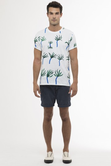Miles Allover Print T Shirt